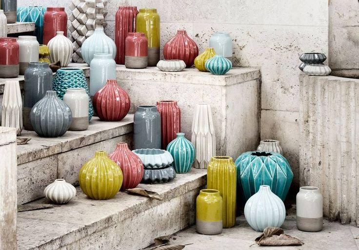 Wonderful, colorful vases by Broste Copenhagen