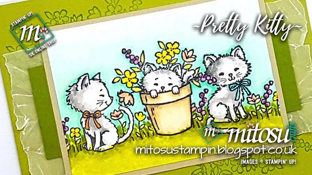 Paper Craft Crew Tic-Tac-Toe Challenge using Pretty Kitty stamp set from Stampin' Up!