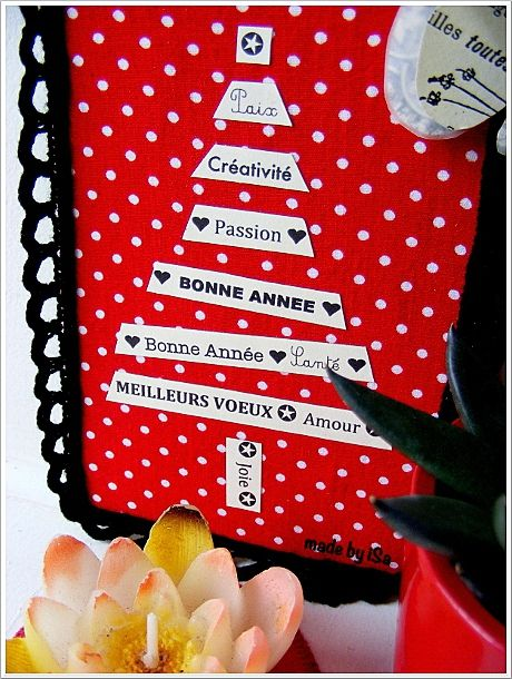 Carte-cadre voeux - made by iSa