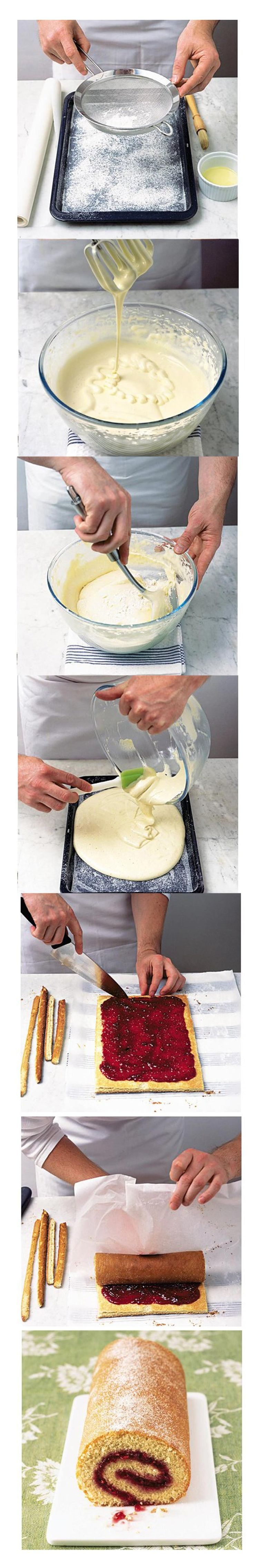 How to make a swiss roll