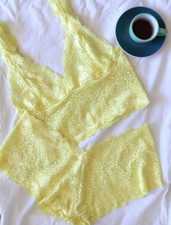 yellow lace lingerie set lace lingerie set summer lingerie