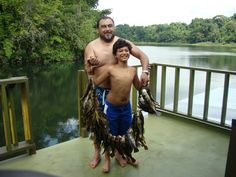 Son and father with a great fishing here in Jungle Land Panama at Gatun Lake.
