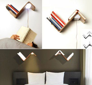 book rack lamp