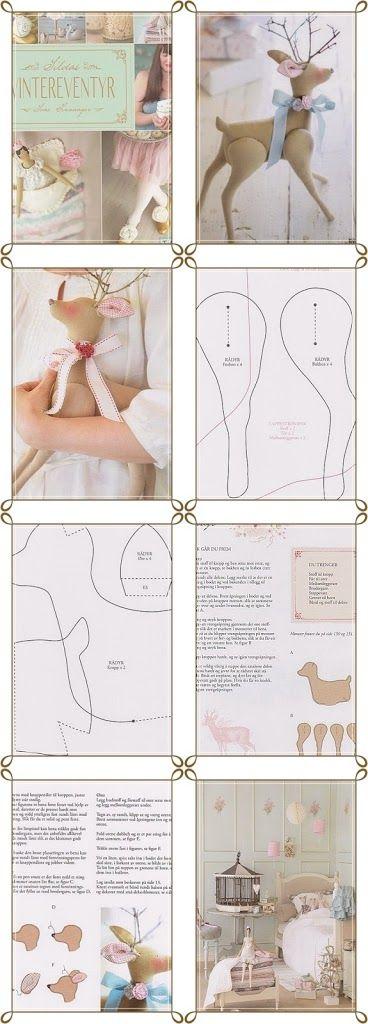 deer stuffed animal soft toy pattern - realistic ish