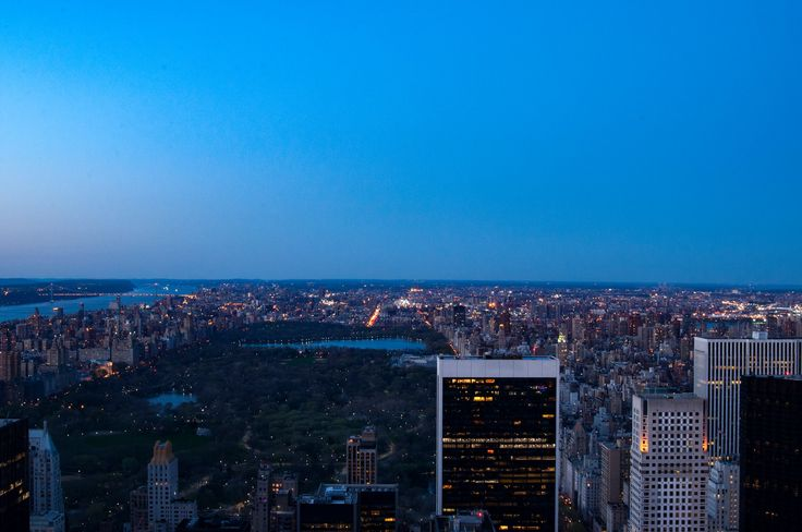 View over Central Park from Top of the Rock.