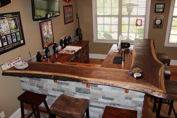 Live Edge Slab Bars Black Walnut For Bars Kitchen Islands Countertops With Bar Grade Clear Coat Wood Bar Top Live Edge Slab Kitchen Island Countertop