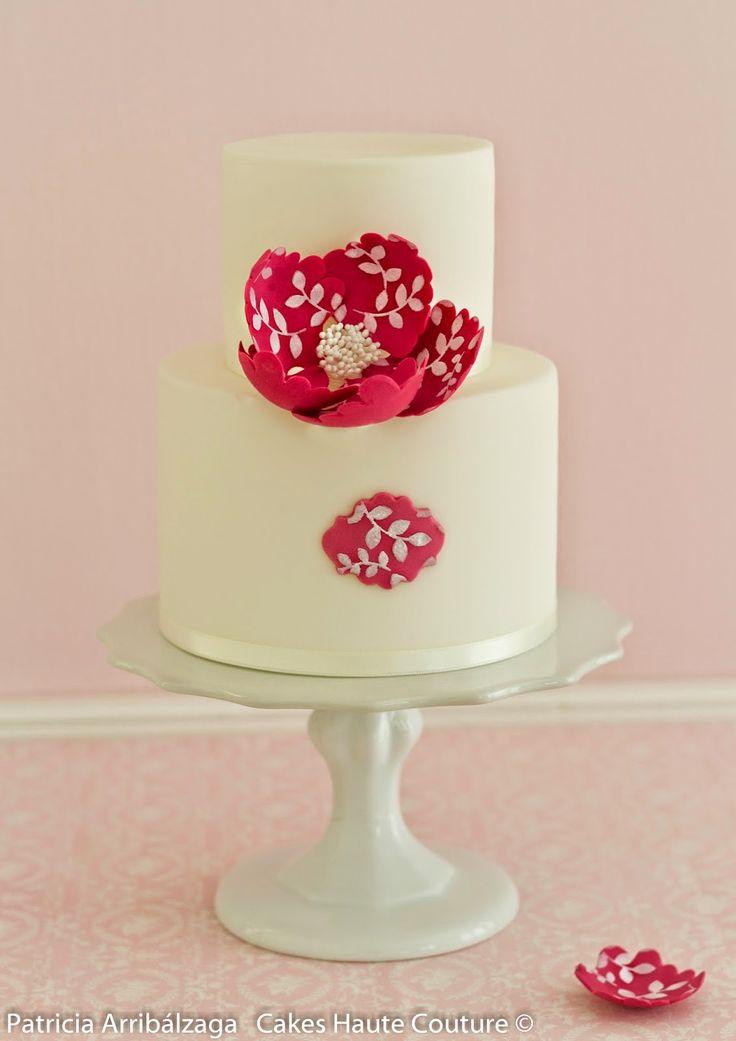 Del Curso Online de Flores y Decoraciones Fáciles para Tartas modernas