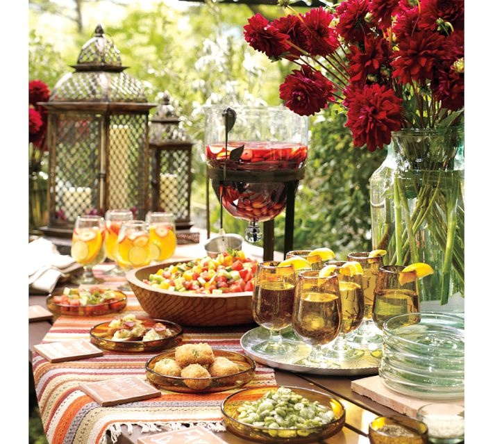 Elegant Buffet Table Settings   Google Search. See More. Someday When I  Have A Garden.