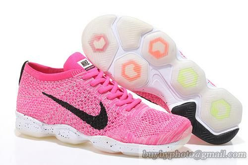 Women's Nike Zoom Fit Agility Flyknit 6.0 2015 Nike Running Shoes Pink Black 698616-600|only US$98.00 - follow me to pick up couopons.