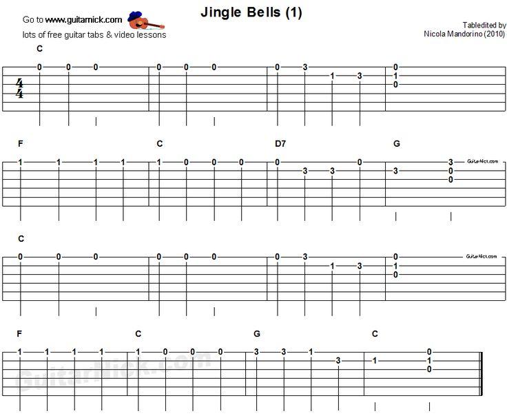 Jingle Bells 1 - easy for beginners - guitar tab