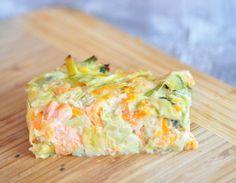 Flan aux poireaux, carottes et saumon