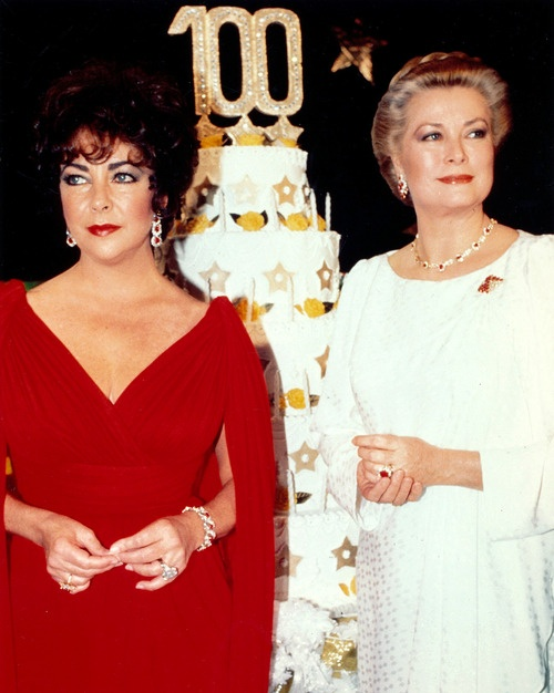 1982 - Elizabeth Taylor and Grace Kelly