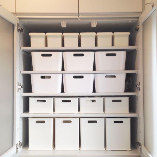 yumiさんの、キッチン,ダイソー,収納ボックス,IKEA,イケア,食器棚,収納,ニトリ,のお部屋写真