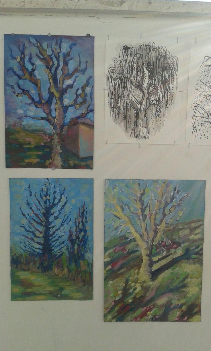 Landscape by me ... plener in school art