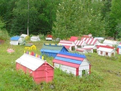 Spirit houses in Alaska
