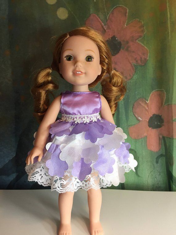 """Doll Clothes Queen Princess Dress Gown For 14.5/"""" Wellie Wishers American Girl"""
