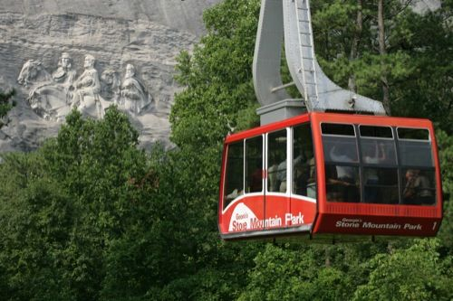 Things to do in Atlanta.  The tram to the top of Stone Mountain.