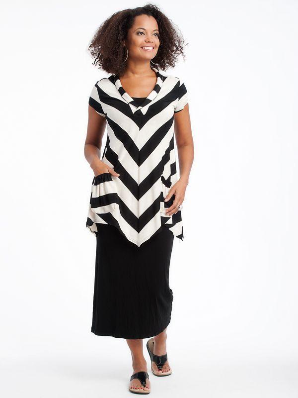Aline Tunic with tank dress www.lousjeandbean.ca  #lousjeandbean #stripes #tunic #tankdress #shoplocal #canadianmade Tessa Oort ~ Lousje & Bean