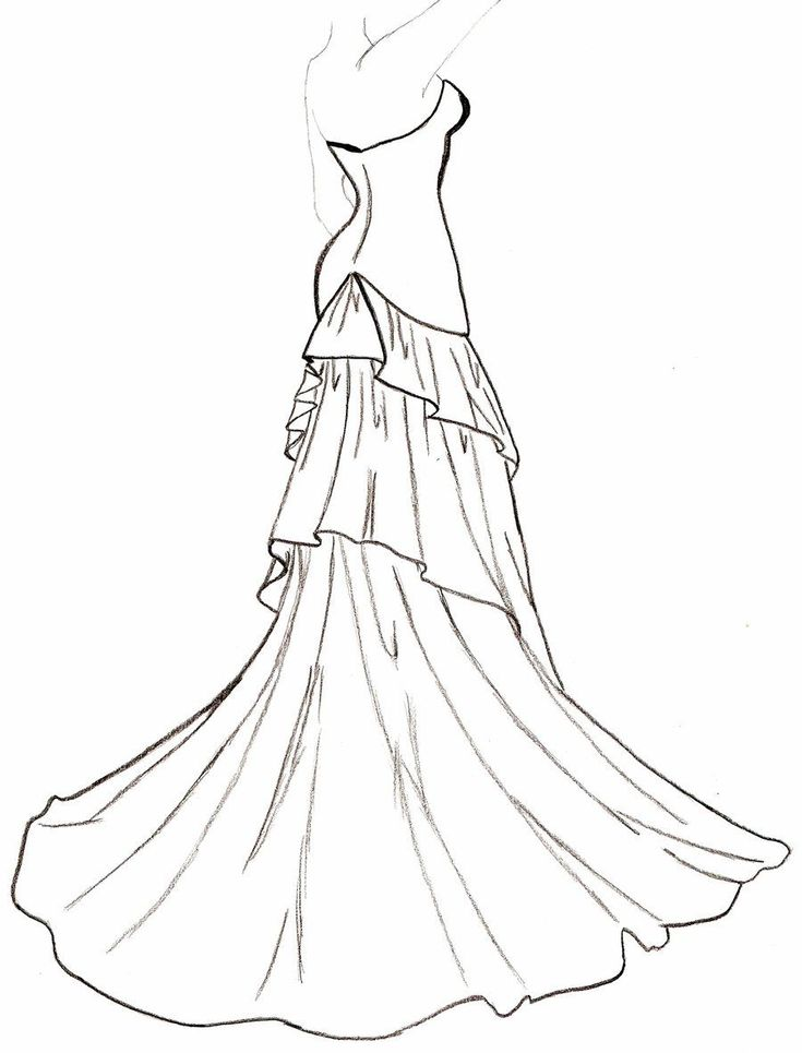 Line Drawing Dress : Best line drawing wedding dress form images on