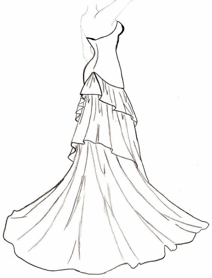 Line Art Wedding : Best line drawing wedding dress form images on