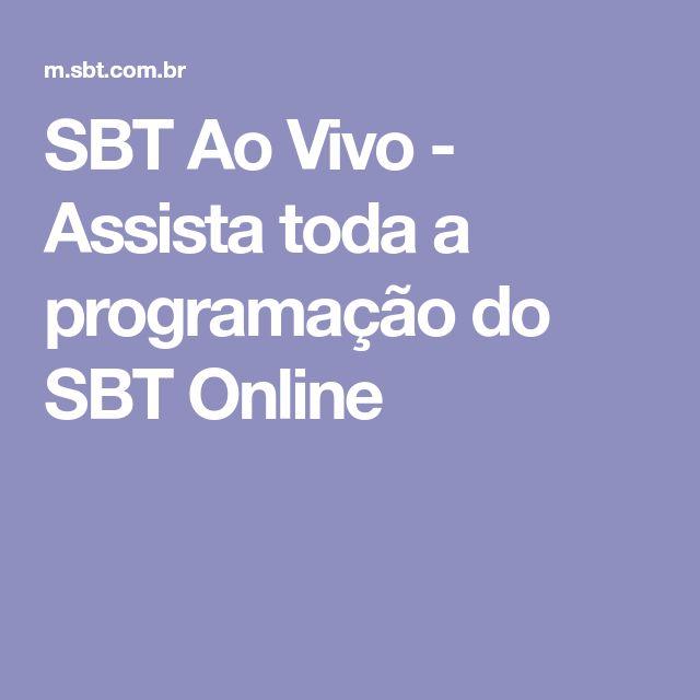 SBT Ao Vivo - Assista toda a programação do SBT Online