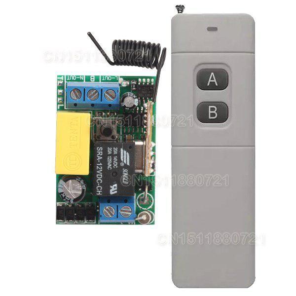 Wireless Remote Switch AC 220V 1CH Mini Relay Receiver