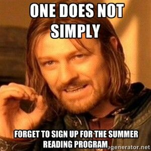 One does not simply library summer reading program meme