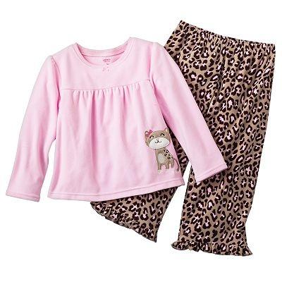 Carter's Cheetah Microfleece Pajama Set - Toddler