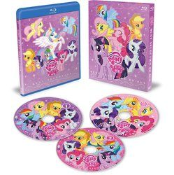 Size: 1195x1200 | Tagged: alicorn, applejack, blu-ray, dvd, dvd cover, dvds, faic, fake, female, fluttershy, mane six, mare, pinkie pie, pony, princess celestia, rainbow dash, rarity, safe, smirk, spike, twiface, twilight sparkle