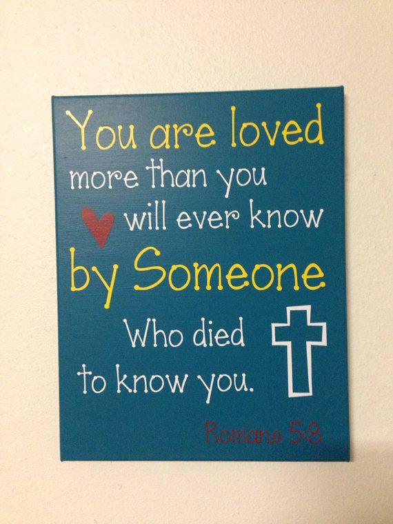 Scripture canvas vinyl lettering 11x14 by BeBlessedCreations