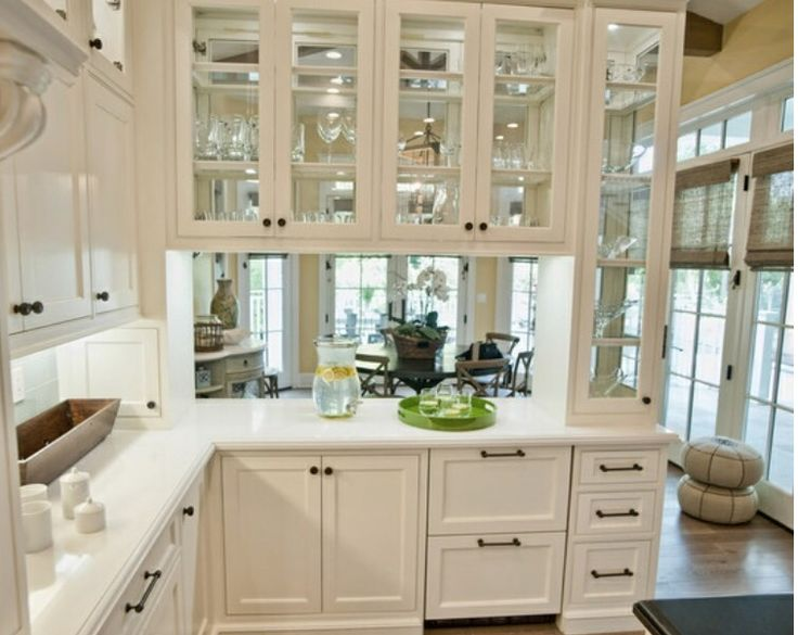 Kitchen, White Theme With Semi Open Concept