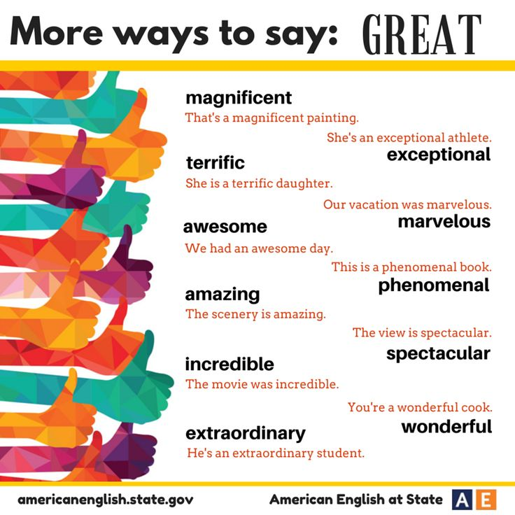 Ways to say GREAT