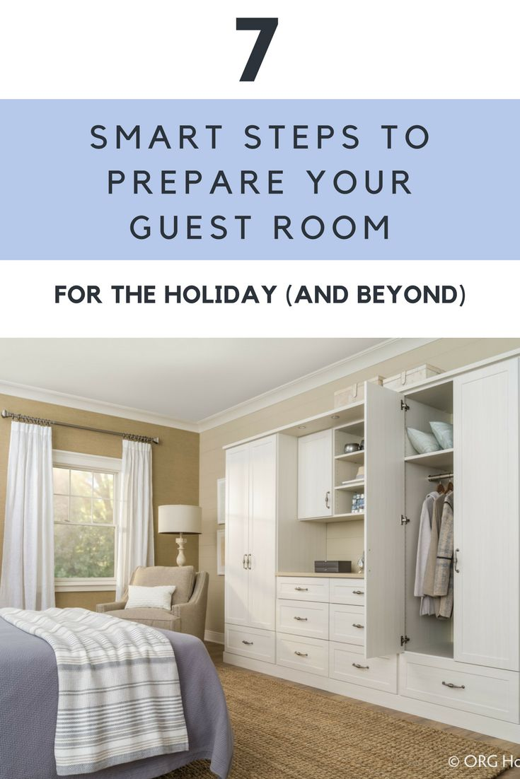 Why waste space in your home for a guest room which is only used a handful of days out of the year? In this article get practical tips to get more out of this space as home office, exercise room or craft room. | Innovate Home Org Columbus Ohio #Wardrobe #GuestRoom #SpareRoom #Organization