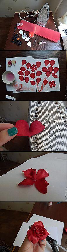 Реалистичная роза из фоамирана своими руками - Ярмарка Мастеров - ручная работа, handmade