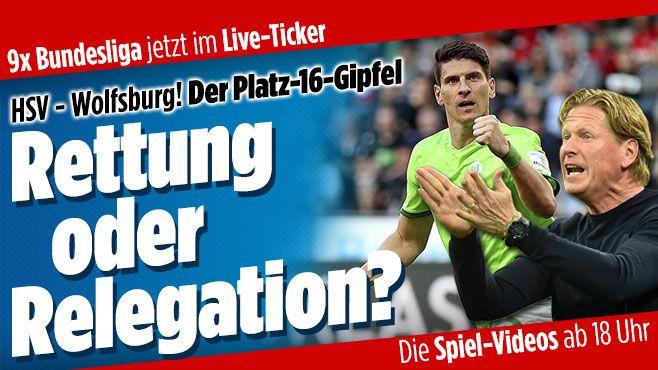 Bundesliga im Live-Ticker http://www.bild.de/bundesliga/1-liga/saison-2016-2017/hamburger-sv-gegen-vfl-wolfsburg-am-34-Spieltag-46942554.bild.html