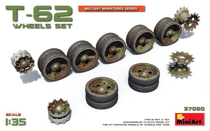 New #MiniArt's Kit In Progress:  37060 T-62 WHEELS SET http://miniart-models.com/37060/
