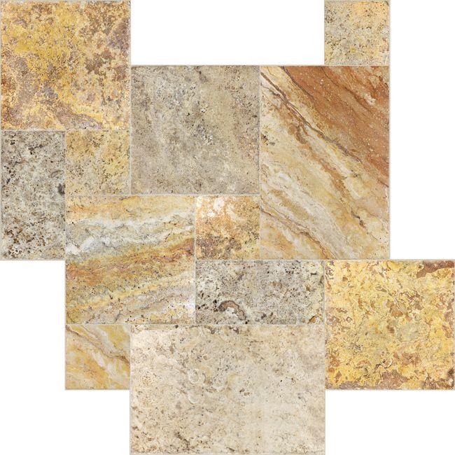 Scabos Travertine Chiseled & Brushed Pattern – 16 sq. ft. #Profiletile
