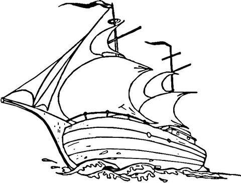 Mayflower Ship Coloring Page May Flowers