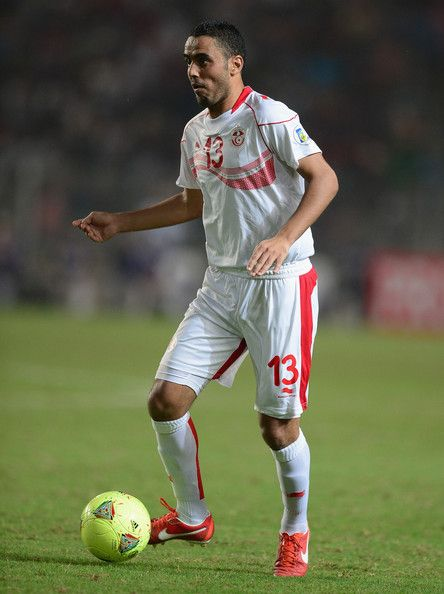 Yahia Ouissem Ben of Tunisia in action during the FIFA 2014 World Cup qualifier at the Stade Olympique de Radès on October 13, 2013 in Rades, Tunisia.