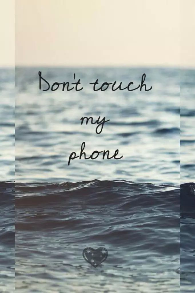 don 39 t touch my phone on we heart it wallpaper other