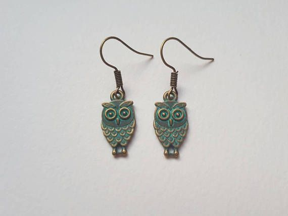 Check out this item in my Etsy shop https://www.etsy.com/ca/listing/562744980/turquoise-and-bronze-owl-earrings
