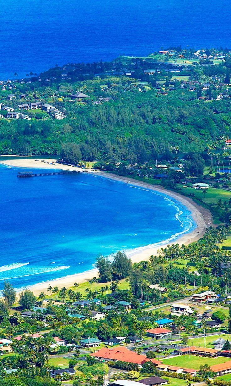 Hanalei Bay Beach, Kauai Island, Hawaii