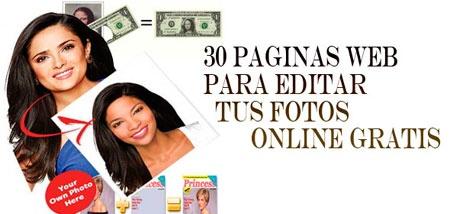 Listado de 30 webs donde editar fotos online