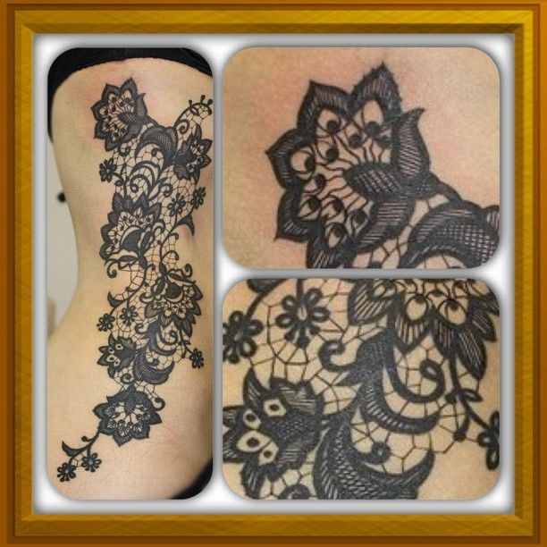 Lace tattoo......Instagram photo by @marekmisztela_tattooist (marekmisztela_tattooist) | Statigram