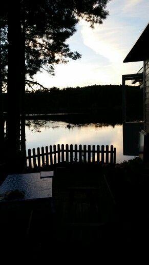 En sommar kväll vid Gundlebosjön
