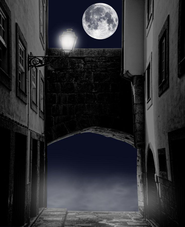 Dark Alleyway Premade Background by EveLivesey.deviantart.com on @DeviantArt