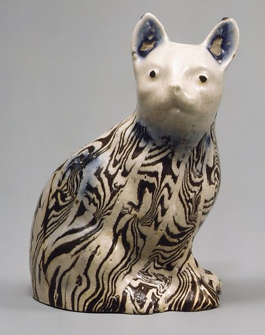 Cat, ca. 1745. British, Staffordshire. The Metropolitan Museum of Art, New York. Gift of Carleton Macy, 1934 (34.165.20) #cats