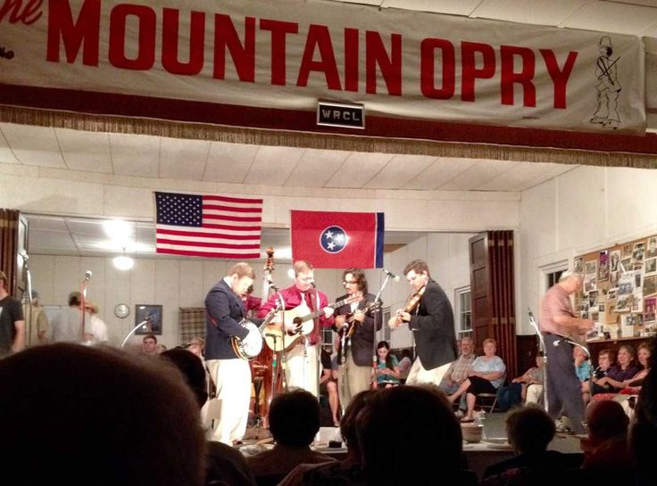 The Mountain Opry takes place each Friday night in an atmospheric old community hall in Walden, Tennessee. Bluegrass and old-time acoustic bands take the stage at 8pm and play thirty minute sets. The venue is classic, from the homemade banner to the American flags to the concession stand selling popcorn and soft drinks. Head to the Mountain Opry, and let the spirit move you!