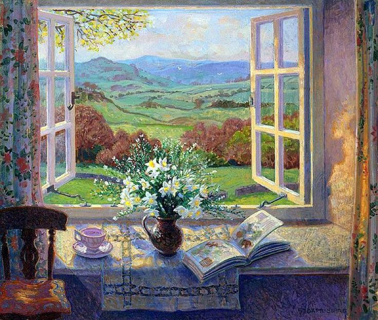 Narcissis By An Open Window by Stephen J Darbishire.