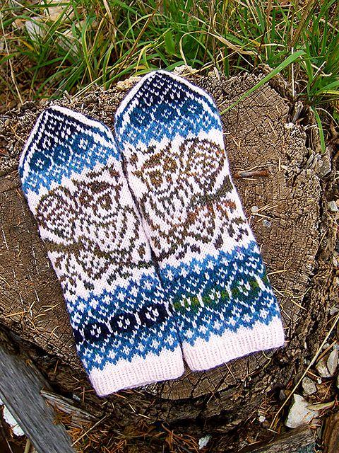 Ravelry: Owl Season Mittens pattern by Natalia Moreva